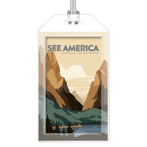 Cascade Canyon, Grand Teton National Park Luggage Tags by Jonathan Scheele Lustre Paper Luggage Tag See America