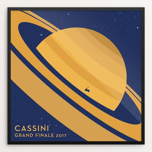 "Cassini Grand Finale by Katarina Eriksson 12"" by 12"" Print / Framed Print Space Horizons"