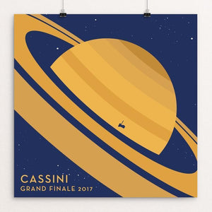 "Cassini Grand Finale by Katarina Eriksson 12"" by 12"" Print / Unframed Print Space Horizons"