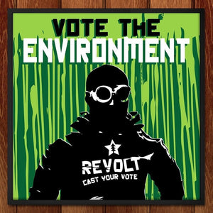 "Cast Your Vote by Eduardo Bolioli 12"" by 12"" Print / Framed Print Vote the Environment"