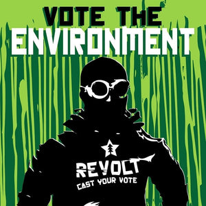 "Cast Your Vote by Eduardo Bolioli 12"" by 12"" Print / Unframed Print Vote the Environment"