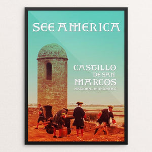 "Castillos De San Marcos National Monument by Bee Joy 12"" by 16"" Print / Framed Print See America"
