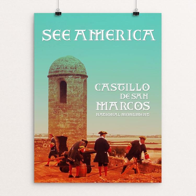 "Castillos De San Marcos National Monument by Bee Joy 12"" by 16"" Print / Unframed Print See America"