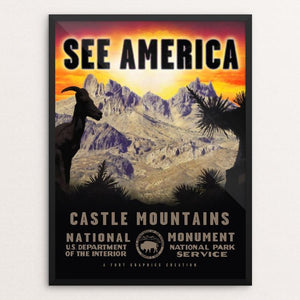 "Castle Mountains National Monument by Justin Weiss 12"" by 16"" Print / Framed Print See America"