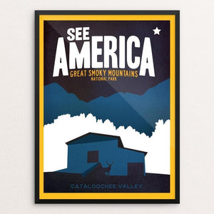 "Cataloochee, Great Smoky Mountain National Park by Matt Brass 12"" by 16"" Print / Framed Print See America"