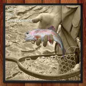 "Catch and Release by Edward Henderson 12"" by 12"" Print / Framed Print Vote the Environment"