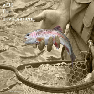 "Catch and Release by Edward Henderson 12"" by 12"" Print / Unframed Print Vote the Environment"