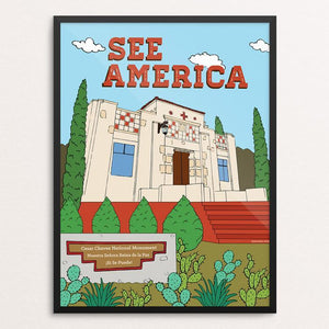"Cesar Chavez National Monument by Yocelyn Riojas 12"" by 16"" Print / Framed Print See America"