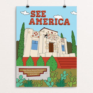 "Cesar Chavez National Monument by Yocelyn Riojas 12"" by 16"" Print / Unframed Print See America"
