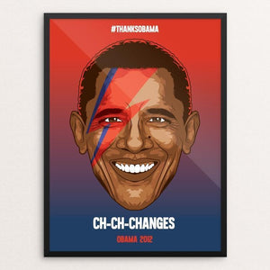 "CH-CH-CHANGES by Roberlan Paresqui 12"" by 16"" Print / Framed Print Design For Obama"