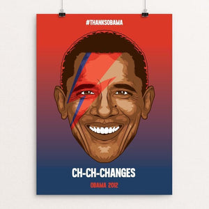 "CH-CH-CHANGES by Roberlan Paresqui 12"" by 16"" Print / Unframed Print Design For Obama"