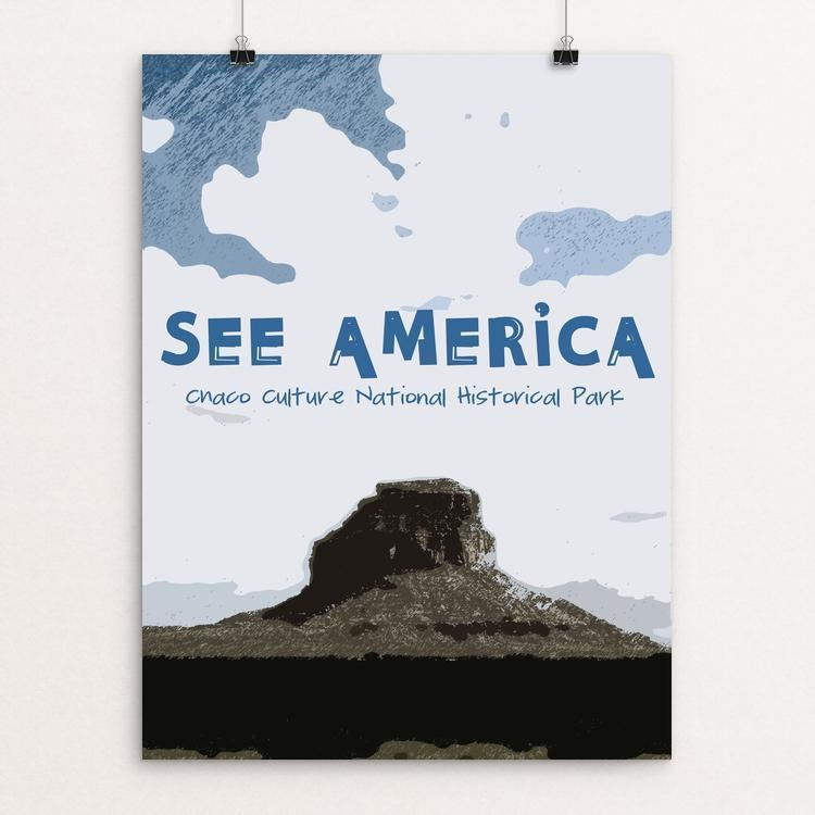 "Chaco Culture National Historical Park by Kaitlyn 12"" by 16"" Print / Unframed Print See America"