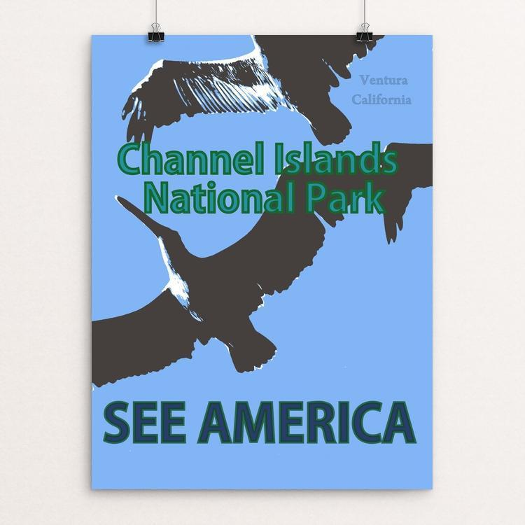 "Channel Islands National Park by Laura Hendrix 12"" by 16"" Print / Unframed Print See America"