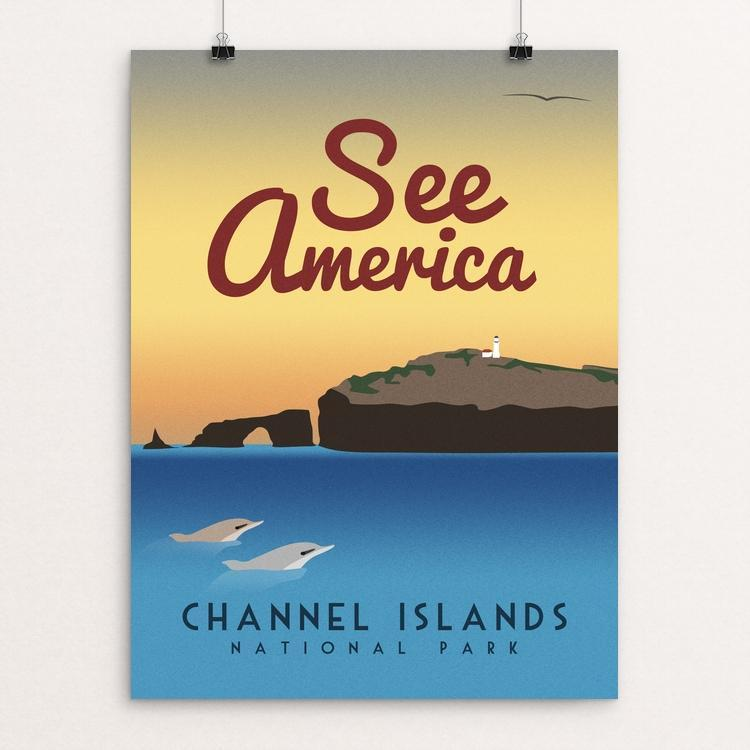 "Channel Islands National Park by Scott Smith 12"" by 16"" Print / Unframed Print See America"