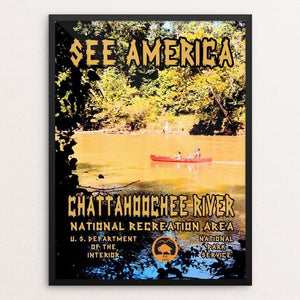 "Chattahoochee River National Recreation Area by John Lincoln Hallowell 12"" by 16"" Print / Framed Print See America"