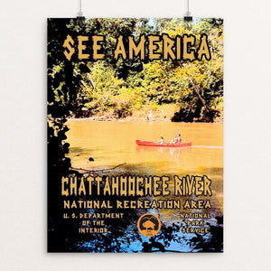 "Chattahoochee River National Recreation Area by John Lincoln Hallowell 12"" by 16"" Print / Unframed Print See America"