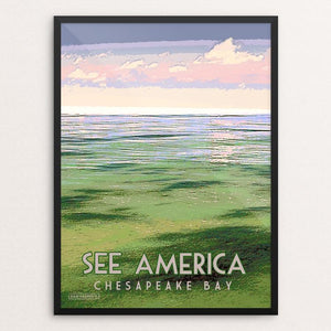 "Chesapeake Bay Gateways Network 1 by Dan Gardiner 12"" by 16"" Print / Framed Print See America"