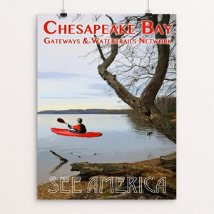 "Chesapeake Bay Gateways Network by Zack Frank 12"" by 16"" Print / Unframed Print See America"
