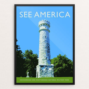 "Chickamauga and Chattanooga National Military Park by Darrell Stevens 12"" by 16"" Print / Framed Print See America"