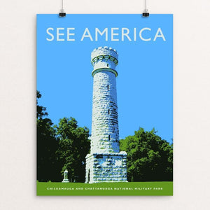 "Chickamauga and Chattanooga National Military Park by Darrell Stevens 12"" by 16"" Print / Unframed Print See America"