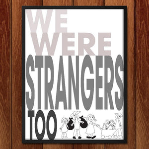 "Child's View by Lyla Paakkanen 12"" by 16"" Print / Framed Print We Were Strangers Too"