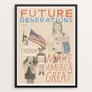 "Children: Our Future Generations by Jen Kruch 12"" by 16"" Print / Framed Print What Makes America Great"