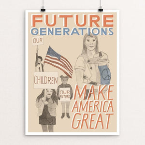 "Children: Our Future Generations by Jen Kruch 12"" by 16"" Print / Unframed Print What Makes America Great"
