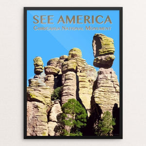 "Chiricahua National Monument by Zack Frank 12"" by 16"" Print / Framed Print See America"