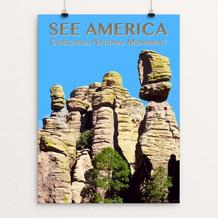 "Chiricahua National Monument by Zack Frank 12"" by 16"" Print / Unframed Print See America"