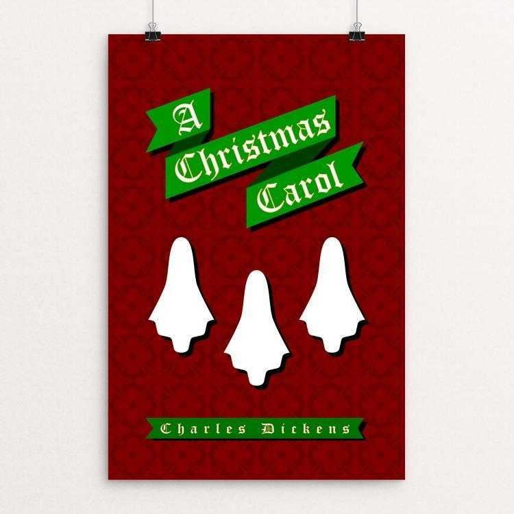 "Christmas Carol Ghosts by John O'Hara 12"" by 18"" Print / Unframed Print Recovering the Classics"