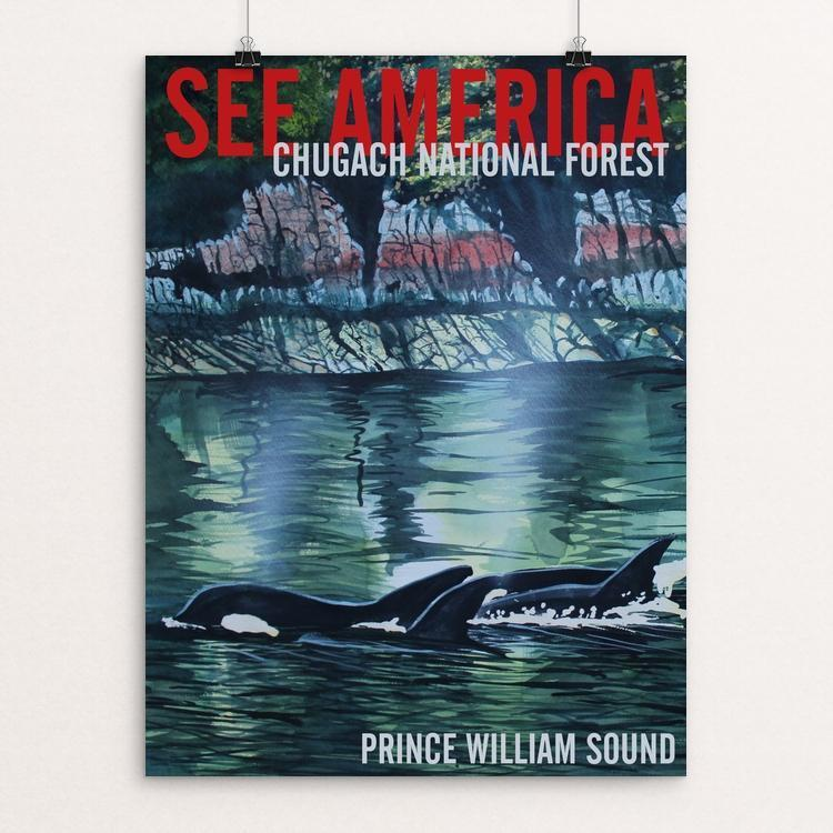 "Chugach National Forest -- Prince William Sound by Bruce and Scott Sink 12"" by 16"" Print / Unframed Print See America"