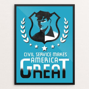 "Civil Service by Hayley Gilmore 12"" by 16"" Print / Framed Print What Makes America Great"