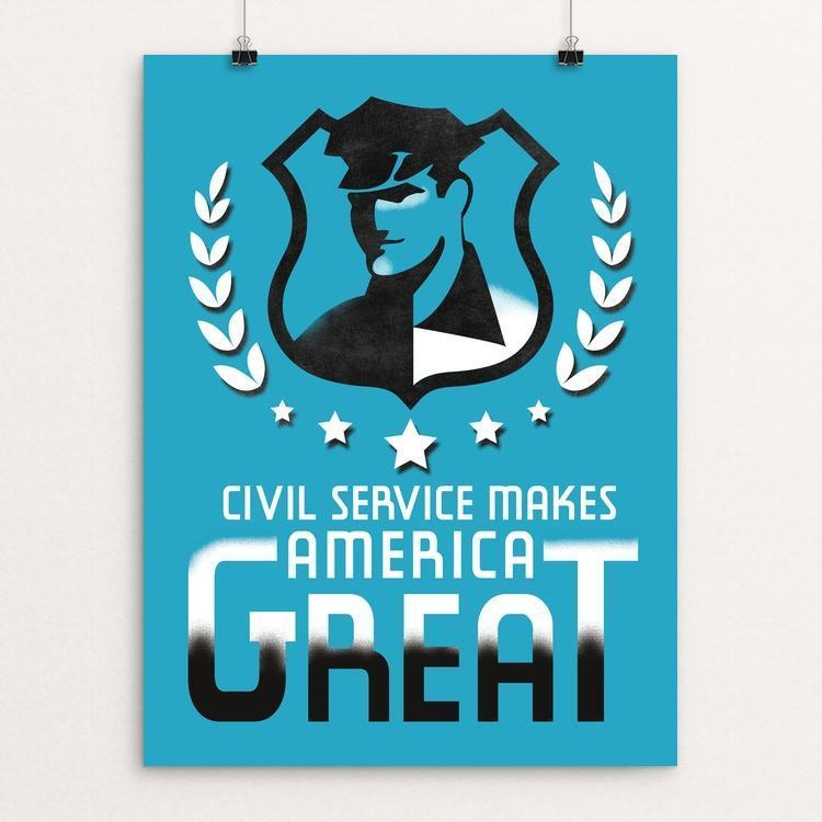 "Civil Service by Hayley Gilmore 12"" by 16"" Print / Unframed Print What Makes America Great"
