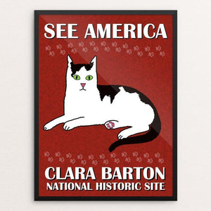 "Clara Barton National Historic Site by Bee Joy 12"" by 16"" Print / Framed Print See America"