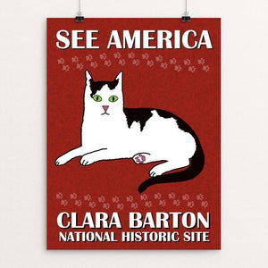 "Clara Barton National Historic Site by Bee Joy 12"" by 16"" Print / Unframed Print See America"
