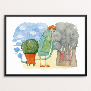 "Clean after yourself! Mother Earth is getting too old to clean after you by Yaara Eshet 18"" by 24"" Print / Framed Print Creative Action Network"