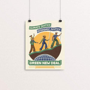 "Climate Justice is Economic Justice by Kate Leib 8"" by 10"" Print / Unframed Print Green New Deal"