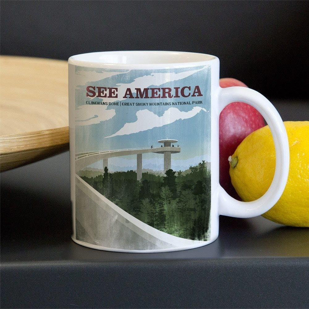 Clingmans Dome, Great Smoky Mountains National Park Mug by Philip Vetter 11oz Mug See America