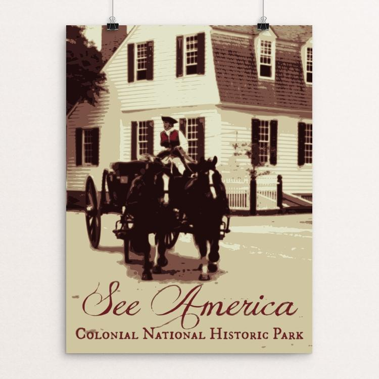 "Colonial National Historical Park by Rendall M. Seely 12"" by 16"" Print / Unframed Print See America"