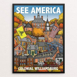 "Colonial Willamsburg by Chris Arnold 18"" by 24"" Print / Framed Print See America"