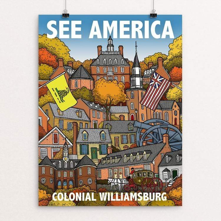 "Colonial Willamsburg by Chris Arnold 18"" by 24"" Print / Unframed Print See America"
