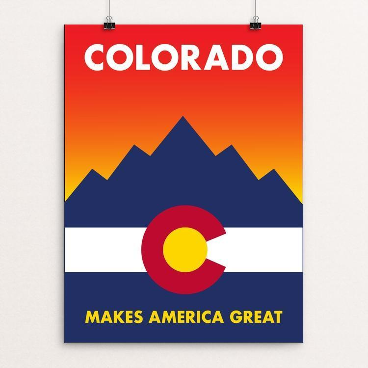 "Colorado by Darren Krische 12"" by 16"" Print / Unframed Print What Makes America Great"