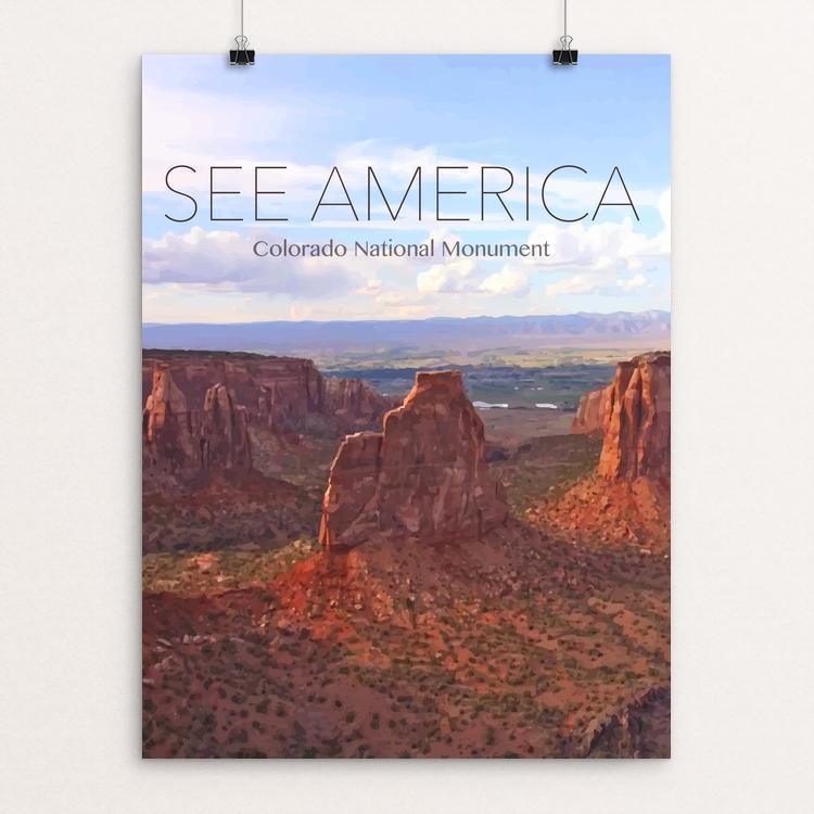 "Colorado National Monument by Lindsey Taylor 18"" by 24"" Print / Unframed Print See America"