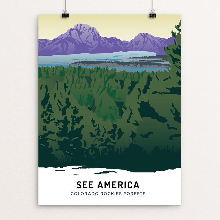"Colorado Rockies Forests by Emily Kelley 12"" by 16"" Print / Unframed Print See America"