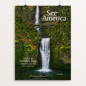 "Columbia Gorge National Scenic Area by Jane Rohling 12"" by 16"" Print / Unframed Print See America"