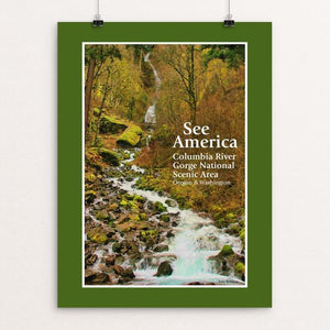"Columbia River Gorge National Scenic Area 2 by Jane Rohling 12"" by 16"" Print / Unframed Print See America"