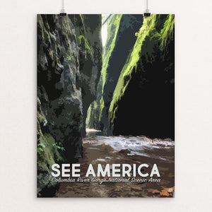 "Columbia River Gorge National Scenic Area by Mary Stasilli 12"" by 16"" Print / Unframed Print See America"