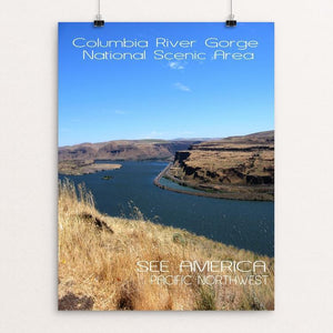 "Columbia River Gorge National Scenic Area by Sondra Rothwell 12"" by 16"" Print / Unframed Print See America"
