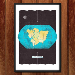 "Come Together by Jason Dietrick 12"" by 18"" Print / Framed Print Power to the Poster"