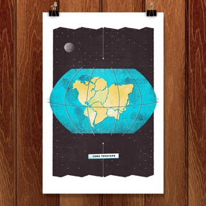 "Come Together by Jason Dietrick 12"" by 18"" Print / Unframed Print Power to the Poster"